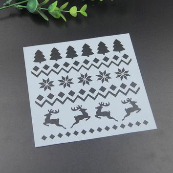 Diyscrapbook Christmas Deer on fabric wall or art etc painting drawing&cmasking spray painted coating stencil art supplies