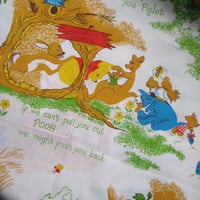 Disney Winnie the Pooh Fabric Baby Boy Girl Nursery Kids Fabric Unisex Unused BTY By The Yard 23 Inches Wide Destash Quilt Craft