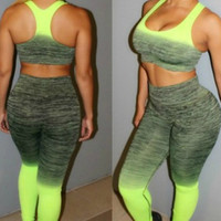 Neon Ombre Activewear Set Clearance