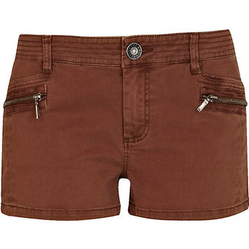 River Island Womens Brown cargo hot pants