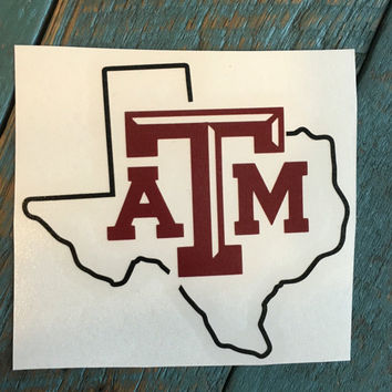 Aggie Decal, Texas A&M Decal, Aggie Yeti Decal, Car Decal,Yeti Sticker, Texas A and M