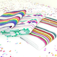 Mexican embroidered fabric by the half yard, Taco fiesta decorations, Quinceanera decor.