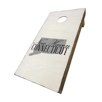 New Haven Connecticut with State Symbol | Corn Hole Game Set