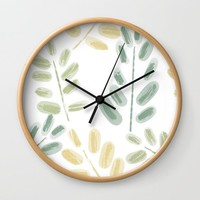 Plant Pattern Wall Clock by sm0w