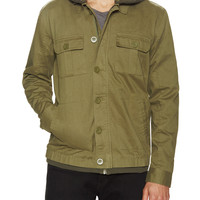 Tavik Men's Droogs Hooded Military Style Jacket - Green -