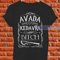 Avada Kedavra Bitch Harry Potter _ T-Shirt Women and Men Tank Top Women andd Men Design BY : wirawiri