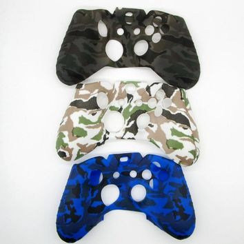 13 Color Case for XBOX ONE Gamepad Silicone Protectice Cover Controller Protector Water Transfer Printing Camouflage  Grips Caps