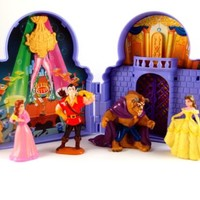 Beauty & the Beast Walt Disney PVC TOY Figures Cake Topper Garcon + Castle