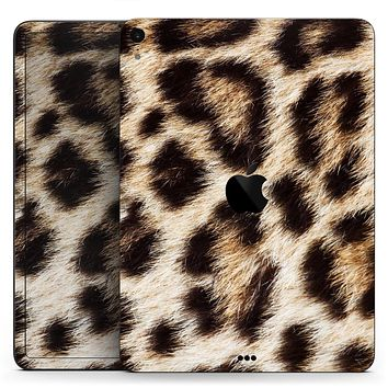 "Leopard Furry Animal Hide - Full Body Skin Decal for the Apple iPad Pro 12.9"", 11"", 10.5"", 9.7"", Air or Mini (All Models Available)"