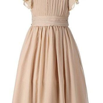 Chiffon Prom Party Dresses Bridesmaid Dress Flower Girl's Dress