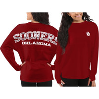 Oklahoma Sooners Women's Aztec Sweeper Long Sleeve Top – Crimson