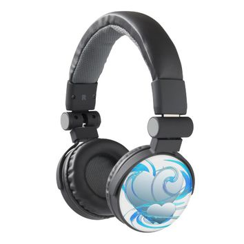 Swirl Hearts Headphones
