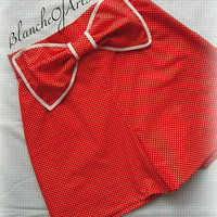 Red Polka Dot Bow Shorts by BlancheOfArts