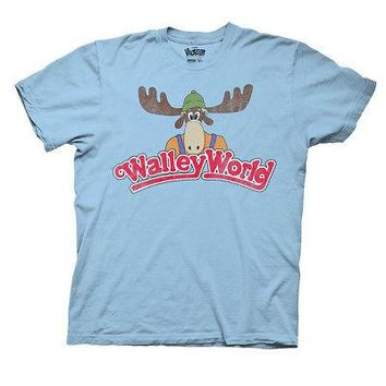 National Lampoon's Vacation Walley Logo World Licensed Adult T-Shirt - Grey/Blue