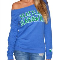 Seattle Seahawks Womens Off Shoulder Sweatshirt | SportyThreads.com