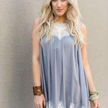 Lace Detailed Swing Dress
