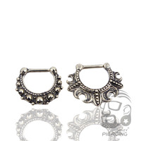 1 pcs Septum Piercing Clicker Antique Bronze Copper 16G Jewelry Piercing Body Fake Nose Ring Stud