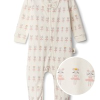 Organic ballerina mouse footed one-piece gap
