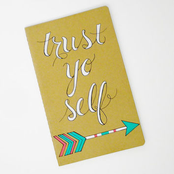 Custom hand painted Moleskine notebook, arrow art, funny inspirational quote  #handpainted  #customjournal  #traveljournal  #arrows