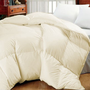 Super Oversized-High Quality Down Alternative Comforter-Ivory