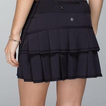 Lululemon Solid Color Casual Gym Yoga Running Sports Skirts