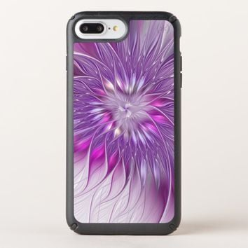 Pink Purple Flower Passion Abstract Fractal Art Speck iPhone Case