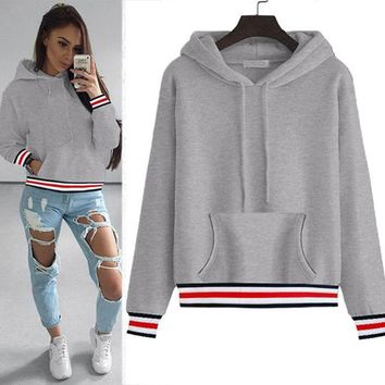 Big Pocket Tie  Thick Women's Hoodies Sweatshirts