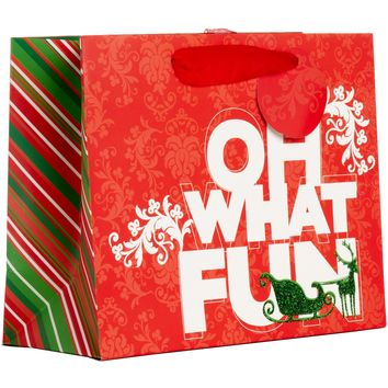 Jillson & Roberts Tiny Gift Bags, Oh What Fun (30 Pieces)