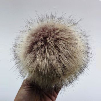 Anti compression Artificial Polyester Fur Pom pom For Knitted Beanies Skullies Faux Fur Ball For Bags Key Chain Accessories