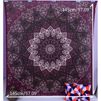 Yoga Mat Bedspread Table Cloth Wall Hanging Tapestry Indian Star Psychedelic Queen Throw Ethnic Tapestries Boho Beach Towel