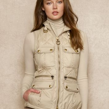 Diamond-Quilted Down Vest - Outerwear   Women - RalphLauren.com
