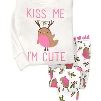 Mistletoe-Bird PJ Sets for Baby
