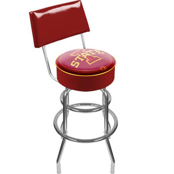 Iowa State University Padded Bar Stool with Back