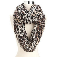 Lovely Leopard Infinity Scarf: Charlotte Russe