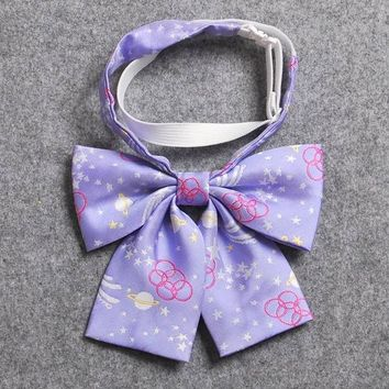 Preppy JK Uniform Bow Tie Japan Style Floral Bowties Students Girls Gifts New