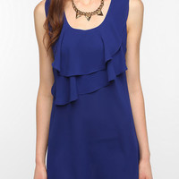 Pins and Needles Crepe Ruffle Front Dress
