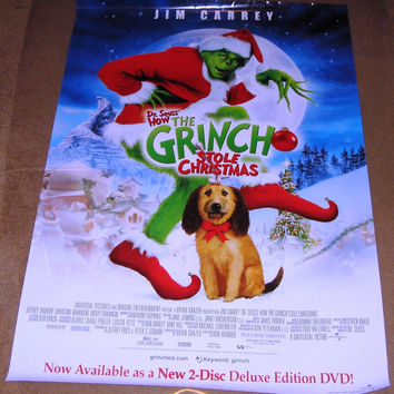 How the Grinch Stole Christmas (2000) Movie Poster 27x40 RP0000 Used Anthony Hopkins, Jim Carrey, Jim Meskimen, John Short, Mindy Sterling, Jessica Sara, Christine Baranski, Rachel Winfree, Rance Howard, Josh Ryan Evans, Ron Howard, Mary Stein