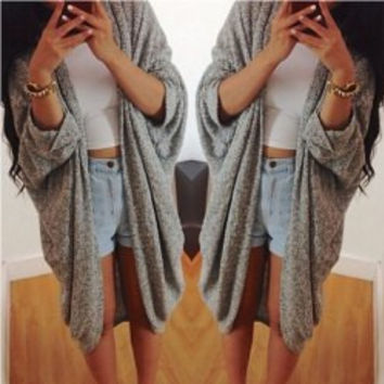 Multi Color Long Sleeve Cardigan