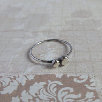 Delicate Silver Nugget Ring, 925 Sterling Silver Minimalist Jewelry, Simply And Rustic Ring For Everday Wear