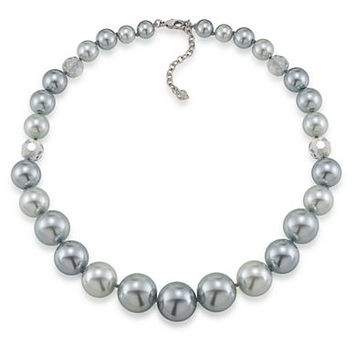 Carolee Cosmic Reflections Tonal Faux Pearl Necklace