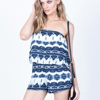 Layer of Tie-Dye Romper
