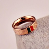 Day-First™ GUCCI Woman Fashion Lettering Plated Ring Jewelry