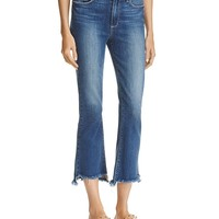 PAIGECollete Uneven Hem Jeans in Blake - 100% Exclusive