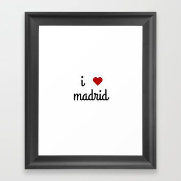 I LOVE MADRID Framed Art Print by Love from Sophie