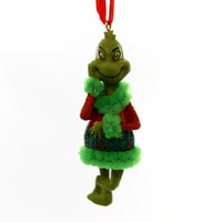 Christmas THE GRINCH ORNAMENT Plastic Dr Seuss Department 56 4052908 Green