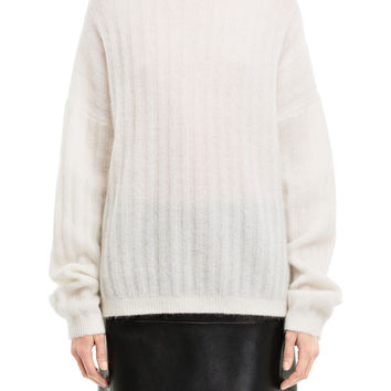 Acne Studios Dramatic Mohair White Sweater