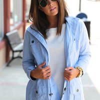 Throw On & Go Jacket {Blue}