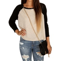 Sale-natural Raglan Dolman Top