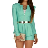 Promo- Mint Peplum Jacket