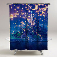 Disney Tangled Lantern Custom Shower Curtain Print On